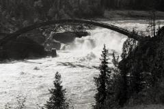 Bygget av bron över Jockfallet