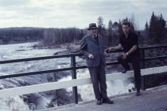 Bron över Kalixälven vid Jockfallet.